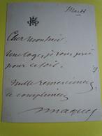 Autographe Auguste MAQUET (1813-1888) Romancier - Collaborateur Alexandre DUMAS - Autographs