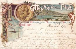 CPA - COMO, 1899 - A. HOHENSTEIN - Centenario Della Pila - Commemorativa, Commémoration - VG - PU738 - Advertising