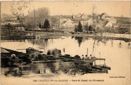 CPA AK CHATILLON-en-BAZOIS - Gare Et Canal Du Nivernais (518336) - Chatillon En Bazois