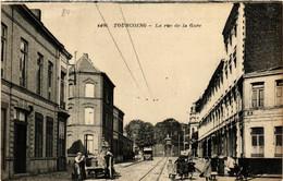 CPA AK TOURCOING - La Rue De La Gare (513465) - Tourcoing