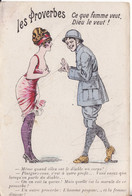 LES PROVERBES - Ce Que Femme Veut , Dieu Le Veut . - - Oorlog 1914-18