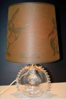 RARE LAMPE BOUTEILLE CRISTAL ST LOUIS LOUIS XIII COGNAC REMY MARTIN PUB ANCIENNE Collection Vitrine Deco - Alcools