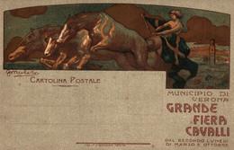 CPA - VERONA - Fiera Di Cavalli - G. MIOLATO - Commemorativa, Commémoration - Cavalli, Chevaux - NV - PU744 - Advertising
