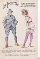 LES PROVERBES - IL Faut Qu'une Porte Soit Ouverte Ou Fermée . - Oorlog 1914-18