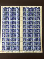 R - Erreur 1936 - Feuille Franchise FM YV 8 N** (3 Charnieres En Marge) Coin Daté Du 12.7.36 , Fraicheur Exceptionnelle - Full Sheets