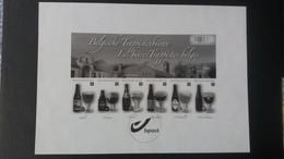"""Feuillet Noir Et Blanc : """"Les Bières Trappistes Belges"""" Timbre Numéro GCA17 - Black-and-white Panes"""