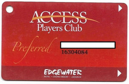 Edgewater Casino, Laughlin, NV, U.S.A., Older Used Slot Or Player's Card,  # Edgewater-2 - Casino Cards