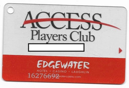 Edgewater Casino, Laughlin, NV, U.S.A., Older Used Slot Or Player's Card,  # Edgewater-3 - Casino Cards