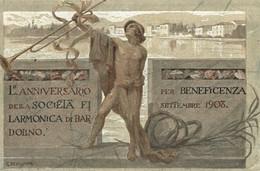 CPA - BARDOLINO - Anniversario Della Società Filarmonica - G. BEVILACQUA - Commemorativa, Commémoration - VG - PU745 - Advertising