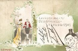 CPA - VENEZIA, 1901 - Comitato Di Beneficenza - G. BATTISTELI - Commemorativa, Commémoration - VG - PU746 - Advertising