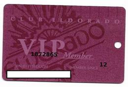 ElDorado Casino, Reno, NV,  U.S.A., Older Used Slot Or Player's Card, # Eldorado-1 - Casino Cards