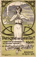 CPA - BOLOGNA, 1906 - Pasqua Di Carità, Società Ginnastica - L. BOMPARD - Commemorativa, Commémoration - VG - PU747 - Advertising
