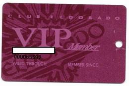 ElDorado Casino, Reno, NV,  U.S.A., Older Used Slot Or Player's Card, # Eldorado-3 - Casino Cards