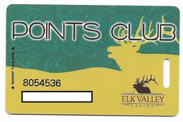 Elk Valley Casino, Crescent City, CA, U.S.A., Older Used Slot Or Player's Card, # Elkvalley-1 - Casino Cards