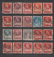 Schweiz - 20 Werte Je Mit Durchlochung (Perfin) Gestempelt (2203) - Sammlungen