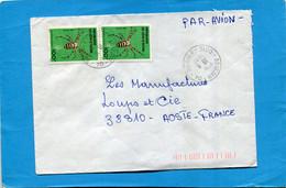 MARCOPHILIE-Cote D'ivoire-lettre- > Françe  Cad 1987-thematic -2-  Stamp-N°681 Insect Araignée - Ivory Coast (1960-...)
