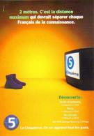"""Carte Postale """"Cart'Com"""" - Série """"Divers, Presse, Média,..."""" - La Cinquième (téléviseur Et Paire De Chaussures) - Advertising"""