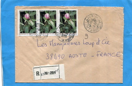 MARCOPHILIE-Cote D'ivoire-lettre-REC > Françe  Cad 1986-thematic- 3- Stamp-N°759 Fleur Castus Afer - Ivory Coast (1960-...)