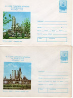 ROMANIA 1979: OIL WORLD CONGRESS - BUCHAREST 1979, 2 Unused Prepaid Cover 122/1979, 123/1979 - Registered Shipping! - Entiers Postaux