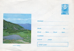 ROMANIA 1972: MOUNTAIN LANDSCAPE, LAKE Unused Prepaid Cover 738/1972 - Registered Shipping! - Entiers Postaux