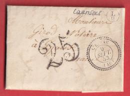 CAD TYPE 22 L'EPINE MARNE 1853 BOITE RURALE SUPPLEMENTAIRE L2 COURTISOLS INDICE 17 - 1801-1848: Precursors XIX