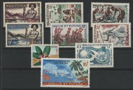 WALLIS ET FUTUNA N° 157 à 161 Neufs * (MH) Ensemble De 9 Timbres (la Cote ** (MNH) Est De 27,50 €) - Unused Stamps