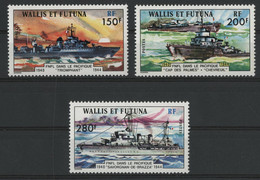 "WALLIS ET FUTUNA N° 210 à 212 Cote 51,50 € Neufs ** (MNH) TB  ""Forces Navales"" - Unused Stamps"