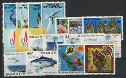 WALLIS ET FUTUNA N° 217 à 233 Cote 45,75 € Neufs ** (MNH) TB - Unused Stamps