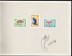 AFGHANISTAN (1967) Striped Hyena. Macaque. Persian Gazelles. Proof Booklet From The Austria Post. Scott Nos 765-6 - Afghanistan