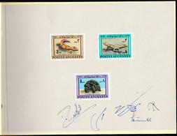 AFGHANISTAN (1966) Dappled Ground Gecko. Caucasian Agamid. Horsfield's Tortoise. Proof Booklet. Scott Nos 724-6 - Afghanistan
