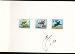 AFGHANISTAN (1970) Quail. Golden Eagle. Pheasant. Proof Booklet From The Austria Post.  Scott Nos 831-3 - Afghanistan