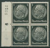 Deutsches Reich 1933 Hindenburg 4er-Block 512 Rand Mit Bg.-Nr. Postfrisch - Nuovi