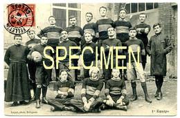 Felletin (Creuse). 1ère Équipe De Rugby (du Collège?). Carte RARE!!!!!!!! Très Bon état (Ed. Luquet). - Felletin