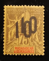 Beau Timbre N° 114 A, Colonies France, Madagascar Et Dépendances 75 Double Surcharge Espacées TB - Zonder Classificatie