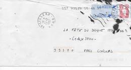 """Enveloppe Accidentée Entier Postal """"Marianne Du Bicentenaire"""" Rouge Oblitération LILLE RP 1997 - Autoadesivi"""