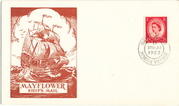 Great Britain Ship Mail Cover Mayflower Maiden Voyage April-July 1957 With Nice Cachet - Lettres & Documents