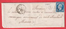 N°14 PC 1516 HERMONVILLE MARNE BOITE RURALE B LOIVRE POUR EPENSE - 1849-1876: Klassik