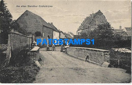 163265 GERMANY CREFELD LINN AT THE OLD STEINTHOR VIEW PARTIAL POSTAL POSTCARD - Ohne Zuordnung