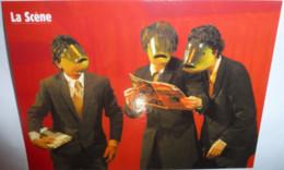 """Carte Postale """"Cart'Com"""" (2004) - La Scène (magazine) 12 Balles Dans La Peau """"Radis For Food"""" - Advertising"""