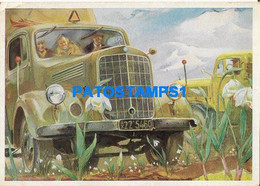 163280 AUTOMOBILE CAR TRUCK CAMION PUBLICITY COMMERCIAL MERCEDES BENZ TYP L 3500 ROBUST POSTAL POSTCARD - Advertising