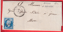 N°22 GC 1404 L'EPINE MARNE CAD TYPE 22 BOITE RURALE C MOIVRE LA MALASSISE POUR EPENSE - 1849-1876: Klassik