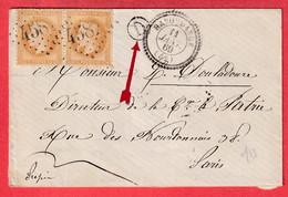 N°28 PAIRE GC 4587 HABOUDANGE MEURTHE ET MOSELLE CAD TYPE 22 BOITE RURALE D POUR PARIS INDICE 13 - 1849-1876: Klassieke Periode