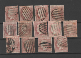 1852 - Ed12 / Edifil 12 Ficha Usados. - Used Stamps