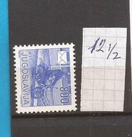 1989  2360C JUGOSLAVIJA JUGOSLAWIEN  PERF-K -12 1-2  POSTDIENST MOTO FREIMARKE MNH - Unused Stamps
