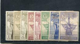 Espagne 1930 Yt 442-449 * - Unused Stamps