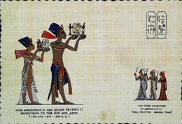 ► CPA  Egypte  Le Roi    Amenophis   IV  Et La Reine Nefertiti - Personen