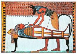 ►   Egypte  Tombe De Sennedjem    Anubis Préparant La Momie - Personen