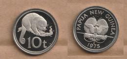 PAPUA NUEVA GUINEA  10 Toea 1975 Copper-nickel • 5.67 G • ⌀ 23.72 Mm   PROOF KM# 4 - Papua New Guinea