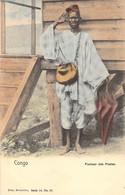 Congo - Facteur Des Postes - NELS - Bruxelles, Série 14 N° 80 - Dos Non Divisé - Belgisch-Congo - Varia