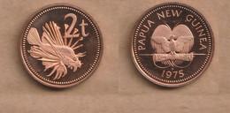 PAPUA NUEVA GUINEA  2 TOEA 1975  Copper Plated Zinc • 4.15 G • ⌀ 21.72 Mm  Proof KM# 2 - Papua New Guinea